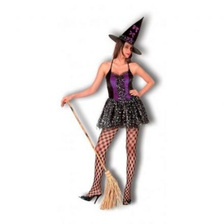 Saucy Witch Adult Costume Purple & Black